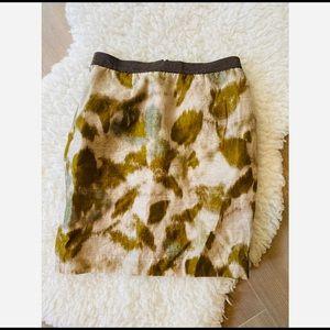 Loft Mini Skirt With Paint Brush Streak Pattern 0P